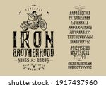 font iron brotherhood. craft...   Shutterstock .eps vector #1917437960