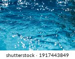 Close Up Of Blue Water In The...
