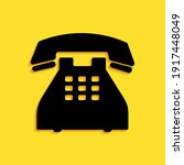 black telephone icon isolated...   Shutterstock .eps vector #1917448049