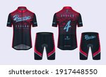 cycling jerseys mockup t shirt... | Shutterstock .eps vector #1917448550