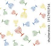 color hanukkah menorah icon...   Shutterstock .eps vector #1917451916