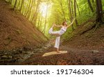 relaxation joga pose  in... | Shutterstock . vector #191746304