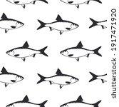 seamless fish pattern. nature...   Shutterstock . vector #1917471920