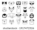 scandinavian animals. nordic...   Shutterstock .eps vector #1917472526
