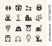 web icon set   scales  weighing ... | Shutterstock .eps vector #191748470
