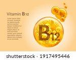 vitamin b12. baner with vector... | Shutterstock .eps vector #1917495446