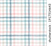 pastel watercolor with gingham... | Shutterstock .eps vector #1917514643