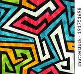 graffiti seamless pattern with... | Shutterstock .eps vector #191751698
