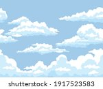 fluffy clouds in blue sky...   Shutterstock .eps vector #1917523583
