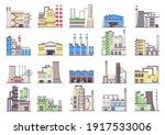 industrial buildings.... | Shutterstock .eps vector #1917533006