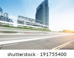 the sunset of the busy roads of ... | Shutterstock . vector #191755400