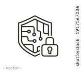 cyber security icon  data...   Shutterstock .eps vector #1917567236