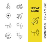 service icons set with farmer ...