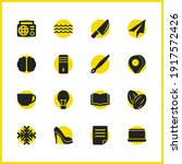 universal icons set with knife  ...