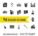 melody icons set with singer ...