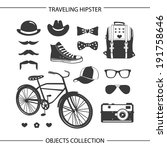 hipster traveling objects... | Shutterstock . vector #191758646