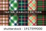 set classic tartan seamless...   Shutterstock .eps vector #1917599000