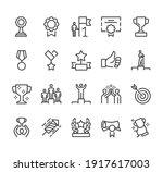 award trophy medal line icon... | Shutterstock .eps vector #1917617003