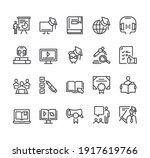 online web intrnet education...   Shutterstock .eps vector #1917619766