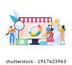 online web internet trading... | Shutterstock .eps vector #1917623963