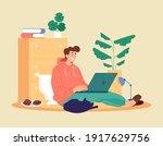man student worker character... | Shutterstock .eps vector #1917629756