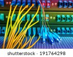 fiber optical Network Server - stock photo