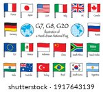 flags of g20 member countries.... | Shutterstock .eps vector #1917643139