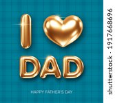 happy fathers day. greeting... | Shutterstock .eps vector #1917668696