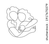 mother and daughter hug. vector ...   Shutterstock .eps vector #1917670379