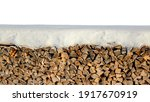 Firewood Snow Wall Background...