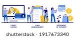 credit rating  loan...   Shutterstock .eps vector #1917673340