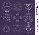 mystical geometry symbols... | Shutterstock .eps vector #1917674426