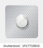 realistic pill blister. drug... | Shutterstock .eps vector #1917710810