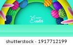 happy easter theme product... | Shutterstock .eps vector #1917712199