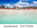 clear calm waters lap the white ... | Shutterstock . vector #191771654