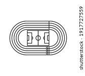 running track field icon....   Shutterstock .eps vector #1917727559