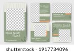 set of spa and massage services ... | Shutterstock .eps vector #1917734096