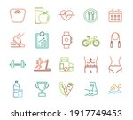 exercise and healthy program... | Shutterstock .eps vector #1917749453
