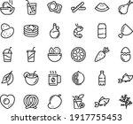 food line icon set   salad ... | Shutterstock .eps vector #1917755453