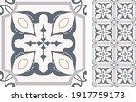 portuguese and spain decor.... | Shutterstock .eps vector #1917759173