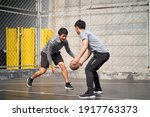 two young asian adult men... | Shutterstock . vector #1917763373