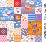 Cute Patchwork Pattern With...