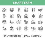 vector smart farm icon set.... | Shutterstock .eps vector #1917768980