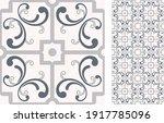 portuguese and spain decor.... | Shutterstock .eps vector #1917785096