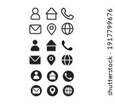 business icon set   icon vector | Shutterstock .eps vector #1917799676