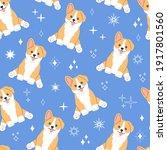 kawaii corgi  little cute dog...   Shutterstock .eps vector #1917801560