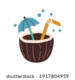 fresh tropical cocktail in... | Shutterstock .eps vector #1917804959