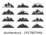 mountain chain snowy peaks ... | Shutterstock .eps vector #1917807446