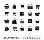 set of shopping cart glyph... | Shutterstock .eps vector #1917813179