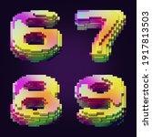3d rendering of colorful... | Shutterstock . vector #1917813503